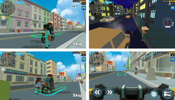 3D Moto Rider: Blocky City 17