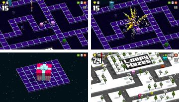 Loopy Labirentler: 3D Klasik Arcade Pac Hopper Man