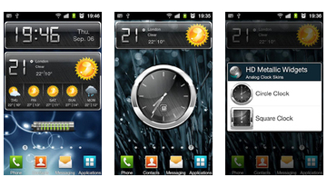 HD metalice Widgets