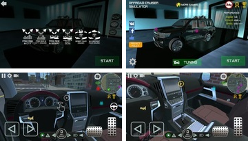Offroad cruiser simulators