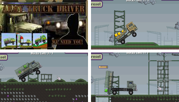 Vojska promet vozač kamiona