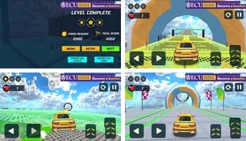 Taxi Car Stunts 3D: GT Racing Car Games