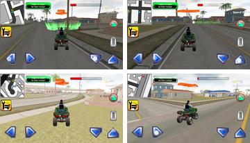 quad de poliție Chase simulator 3D