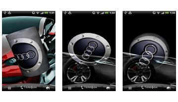 Audi 3D Logo Ζωντανή Wallpaper