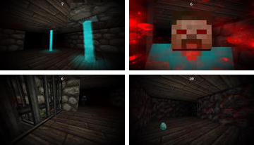 Herobrine Maze 3D: Homme mince