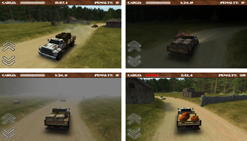 Dirt Road camionneur 3D