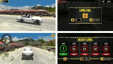 Train versus Car Racing 2 speler