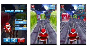 Papai Runner Xmas Subway Surf