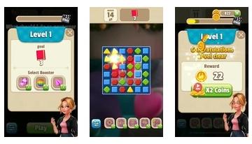Rachel's Diary - Match 3 Romance Puzzle Games