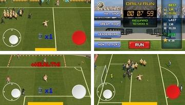 Football run: Crazy fat streaker runner!