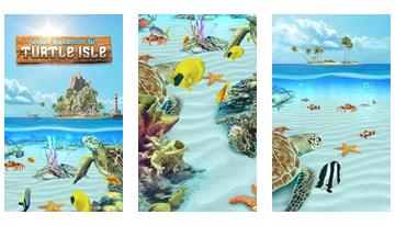 Vandenyno akvariumas 3D Vėžlys salos