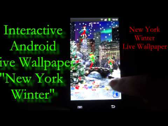 Download New York Winter Live Wallpaper For Android